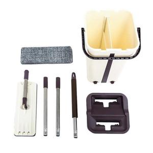 Lazy Free Hand-Washing Flat Mop Lengthening Increase Mop Shake New Scratching Paste Flat