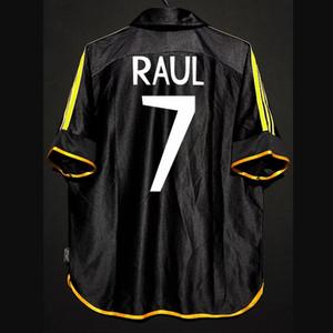 Retro 1998/01 Real Madrid Soccer Jerseys Raul Roberto Carlos Guti Mijatovic Redondo Anelka Figo Kits Vintage Camisas clásicas