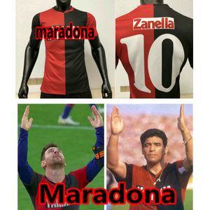 Maradona 1993 1994 Newells كبار الفتيان الرجعية لكرة القدم جيرسي خمر كرة القدم قميص ميسي camiseta دي فوتبول كلوب نيويل مايو
