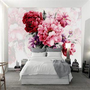 Personalizado moderno 3D wallpaper wall murales 3d acuarela pintada a mano moda moda moderno sala de estar sofá cama fondo pared