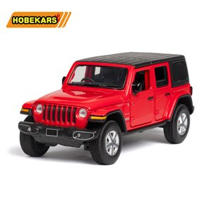1:32 Alloy Model Car Diecast Toys Vehicle Wrangler Sahara Jeep Simulation Car With Sound And Light For Halloween Kids Gifts Z1202
