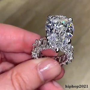 10CT Большое симулированное бриллиантовое кольцо Уникальная коктейльная груша нарезанный белый топаз драгоценные камни обручальное кольцо свадьбы для женщин
