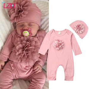 2020 Winter Fall Baby Clothing Casual Jumpsuit For Baby Rompers+Hat Outfits Sets Newborn Overalls Infant Baby Girls Clothes Z1121
