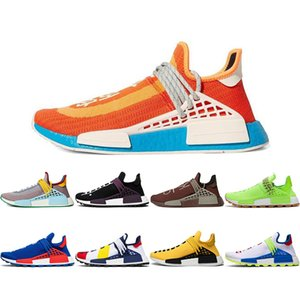 2020 zusätzliches Auge Hu Pharrell Williams Menschliche Rasse Herren Athetische Schuhe Bold Orange Schokolade Gelb Frauen Männer Trainer Sport Sneakers 36-45 C01