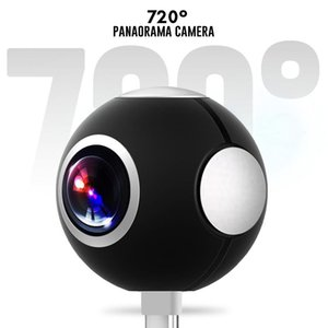 Mini HD Panoramic 360 Camera Wide Videcam Dual Angle Fish Eye Lens Video Camera for Smartphone Sport & Outdoor Action Cam