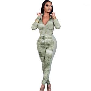Designer Womens Skinnt Tangsuitsuit Sexy Impilati Donna Pagliaccetto Casual High Nevk Womens Manica lunga Mesh a maniche lunghe