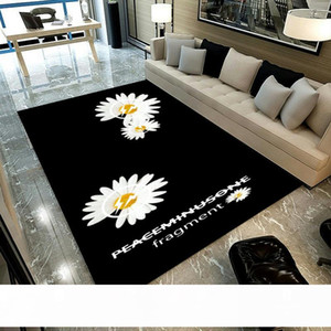 Fashion Brand Carpet Daisy Living Room Creative Bedroom Full Cloakroom Cute Girl Heart Ins Cool Large Floor Mat