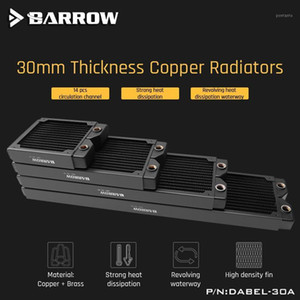Barrow Copper Radiator Case 360 240 120 Heatsink 30mm Thickness 14pcs Circulation Channel Suitable For 120mm Fans Dabel-30a1