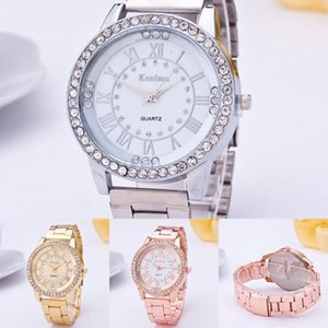 fashion casual watch Womens Mens Crystal Rhinestone Stainless Steel Analog Quartz Wrist Watch popular women