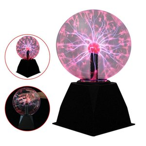 Nouveautés de Noël Magic Plasma Slight Lights de nuit électrique 4 5 6 8 pouces Lumières de table Sphère Christmas Cadeau Glass Plasma Lampe plasma