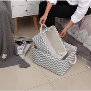 New Folding Canvas Fabric Storage Box Clothes Toys Storage Basket For Toys Organizer Home Laundry Basket With Handle storage bin Z1123