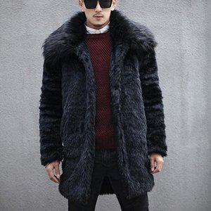 Man's Jackets And Coats Winter Brand Warm Thick Fur Jacket Mandarin Collar Suit Jacket Faux Fur Parka Outwear Cardigan
