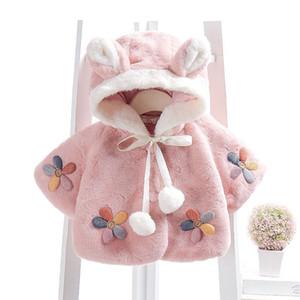 Kids Designer Clothes Baby Winter Newborn Toddler Infant Child Kid Baby Girl Fur Coat Hooded Cloak Jacket Snowsuit Outerwear Adorable Cloth