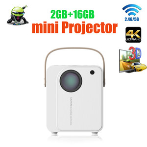 4K 3D mini projector android 6.0 smart projector 2.4G 5G dual wifi BT4.1 full hd 1080p video game Beamer