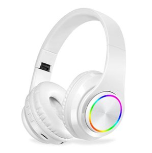 Colorful LED Headphone Portable Folding Built-in FM Earphones Wireless Bluetooth V5.0 Headset With MIC Support TF Headset subwoofer B39