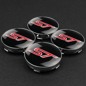 4pcs 56 60MM ST Logo Car Wheel Center Caps Emblem for Ford ST Fusion Everest Escape Explorer Edge Mondeo Focus Ecosport Fiesta