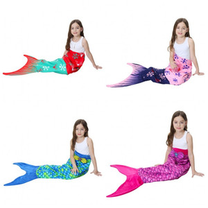 Mermaid Scale Blankets With Tail Sleeping Blanket Pattern Wave Double Layer Velvet Material Children Like Beach Towel Fashion 43tsH1