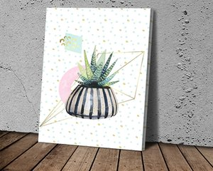 Cactus Flower Canvas Print Painting Canvas Paintings Poster Print Wall Art for Living Room Home Decor