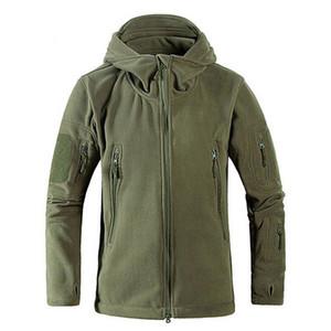 Homens À prova de vento tad tad tático tiro mountain micro térmico térmico lã polar jaqueta com capuz roupas exército respirável