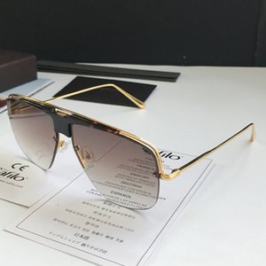 Luxury 0724 Sunglasses For Men Designer Fashion Half Frame UV Protection Lens Popular Summer Style Sunglasses Top Quality Come With Case