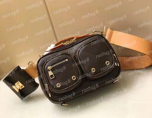 2021 Herren Crossbody Messenger Bag Handtaschen 45672 Frauen Blume Leder Umhängetaschen Gürtel mit kleinen Beutel Brustpackungen Fronttaschen