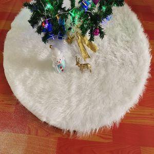 White Plush Christmas Tree Fur Carpet Merry Christmas Decorations For Home Natal Tree Skirts New Year Decoration Navidad sea ship CCA2794