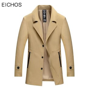 New Classic Windbreaker Fashion Autumn Mens Trench Coat Fit Long Coats Men British Style Business Outwear High Quality Overcoat