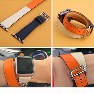 Kebitt Men Women Double Tour Bands For Apple Watch Series 4 3 Genuine Leather Strap Iwatch4 Two Loop Wrist Band Herm 40mm 44mm T190708