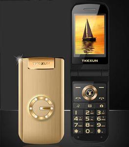 الأصلي tkexun G9000 الفاخرة الجسم المعدنية الذهبي فليب كاميرا الهاتف المحمول بلوتوث المزدوج بطاقة sim 2.4 بوصة شاشة تعمل باللمس الهاتف الخليوي mp3
