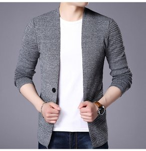 MRMT 2020 Brand Qiu Dong Men's Jackets Sweaters Leisure Pure Wool Knit Overcoat for Male Long-sleeve Cardigan Sweater Coat
