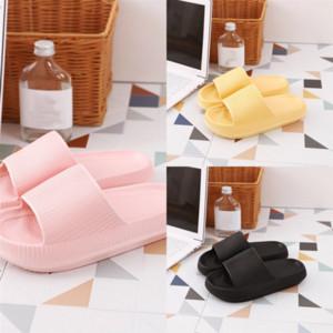 Pomboms Paris Sliders мужская Женская обувь Dener Loafers Summer Pure Color Sandals Beach Home Furnishing Flip Пара Дамы Тапочки Шлепания