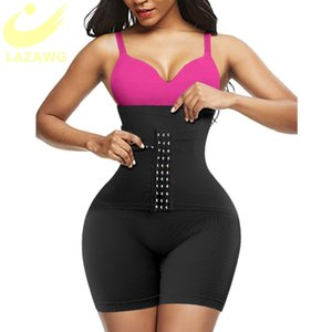 Butt Lifter Lazawg Body Shaper Фирма Belly Control Shapeewear Высокая талия Шорты Mid Shipper Slimmer Mankder с крюком