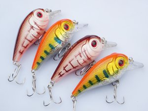 Wholesale Lot 20 Fishing Lure Crank CranKbaits Hand Baits Hooks Bass 11.3g 7cm Free Shipping