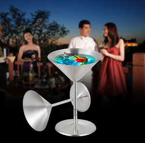 Cocktail Glass Cup Stainless Steel Wine Cup Hanap Wine Glass Martini Champagne Cup Goblet Bar Tools Mugs for Party Fashion Design MY-9855