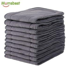 [Mumsbest] 10 PCS Insertos de carvão de bambu para fralda de pano bebê inserções laváveis reutilizáveis para pano de bolso real fralda 201119