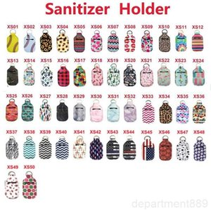 A-Neoprene Sanitizer Keychain Bags 30ML 10*6cm Key Rings Hand soap Bottle Holder Party Favor DHC1608
