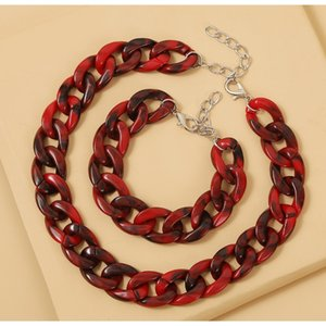 Horse Wishhot Sale New Concise Fashion Hip Hop Designer Exaggerating Thick Chain Necklace Bracelet Set jllTDl yy_dhhome