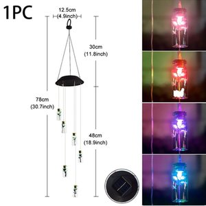 Hummingbird Butterfly Dragonfly Colorful Solar Wind Chime Led Light Waterproof Garden Decoration Outdoor Tree Pendant jllHVd