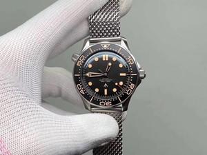 2020 Время умирать роскошные мужские часы Ограниченные издание Skyfall Mens Master James Bond 007 Diver 300M Watch 50th Designer Steel Band Warswatch