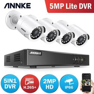Annke 8CH 2MP FHD 비디오 감시 시스템 5in1 H.265 + 5MP Lite DVR 4pcs 1080p 야외 비바람 방지 보안 카메라 CCTV LJ201209