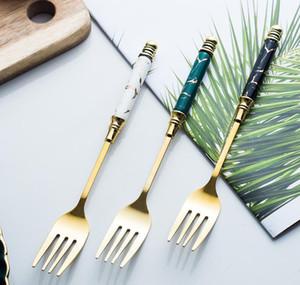 5pcs Ceramic Tableware Fork Spoon Knife Set Vintage Cutlery Set 304 Stainless Steel Dinner Dinnerware Set Free jllAFT bdebag