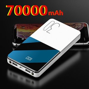 Power Bank Wireless 70000mAh Portable Mobile High Capacity Fast Charging USB External Battery Ultra Thin Charger