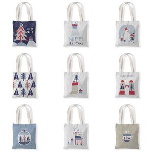 The latest size 33X37CM, Christmas tree style Christmas gift bag, Christmas decoration canvas shopping bag, free shipping