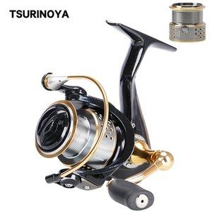 TSURINOYA Fishing Reels FENGSHANG 2000 8+1BB 5.2:1 Double Spool High Intensity Body Freshwater UltraLight Spinning Coil Z1128