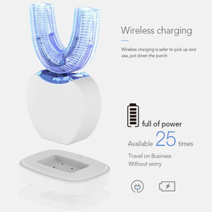 Hot 360 Degrees Automatic Electric Toothbrush U Type Silicon Ultrasonic Sonic Toothbrush Intelligent Rechargeable USB Blue Light1