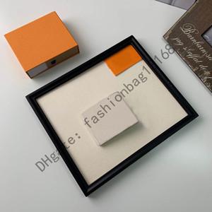 002 Großhandel Original Box Luxus Echtleder Multicolor Datum Code Kurze Brieftasche Kartenhalter Frauen Mann Klassische Reißverschluss Tasche QWere