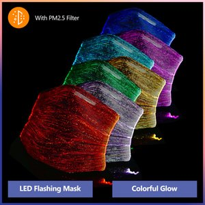 7 Colors Changing Glowing LED Face Masks Halloween Luminous Mask With PM2.5 Filter Anti-dust Christmas Mask Party Masks