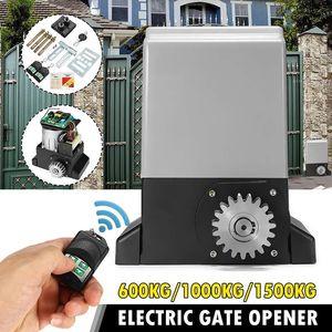 Контроль доступа к отпечаткам пальца 1500 кг Автоматическая раздвижная дверь двигателя Ворота с 2 наборами Переключатель сверхмощного электрооборудования