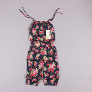 Clearance sale Girls Pants Twins Pants Baby Clothes Girls Jumpsuit Kids Clothing Flower Print Summer Outfit Children Suspender Trousers Z231