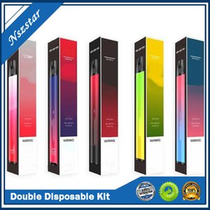 Double Disposable Kit 2 in 1 3ml+3ml Prefilled Pods 2000 Puff 900mAh Vape Pen 2in1 Device Stick Ezzy XXL Bang Max Pro Onee
